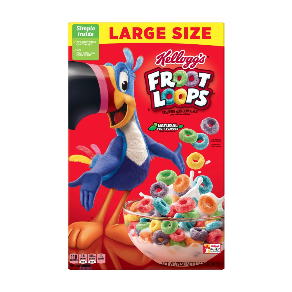 Froot Loops Cereal Large Size 14.7 OZ