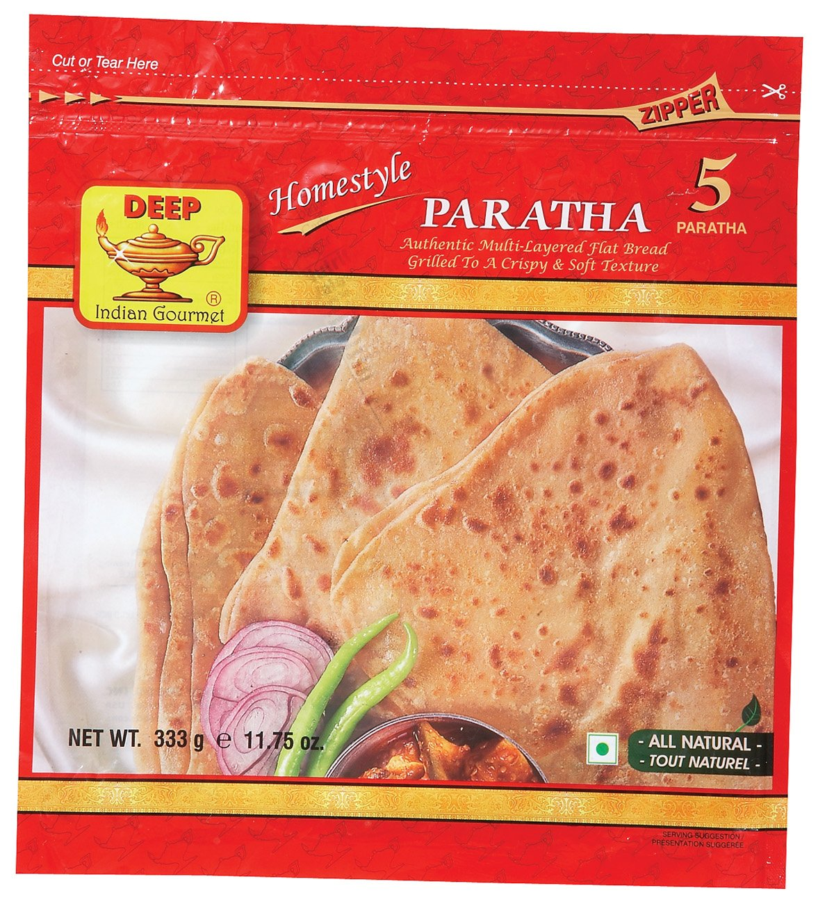 DEEP HOMESTYLE PARATHA 5 pcs