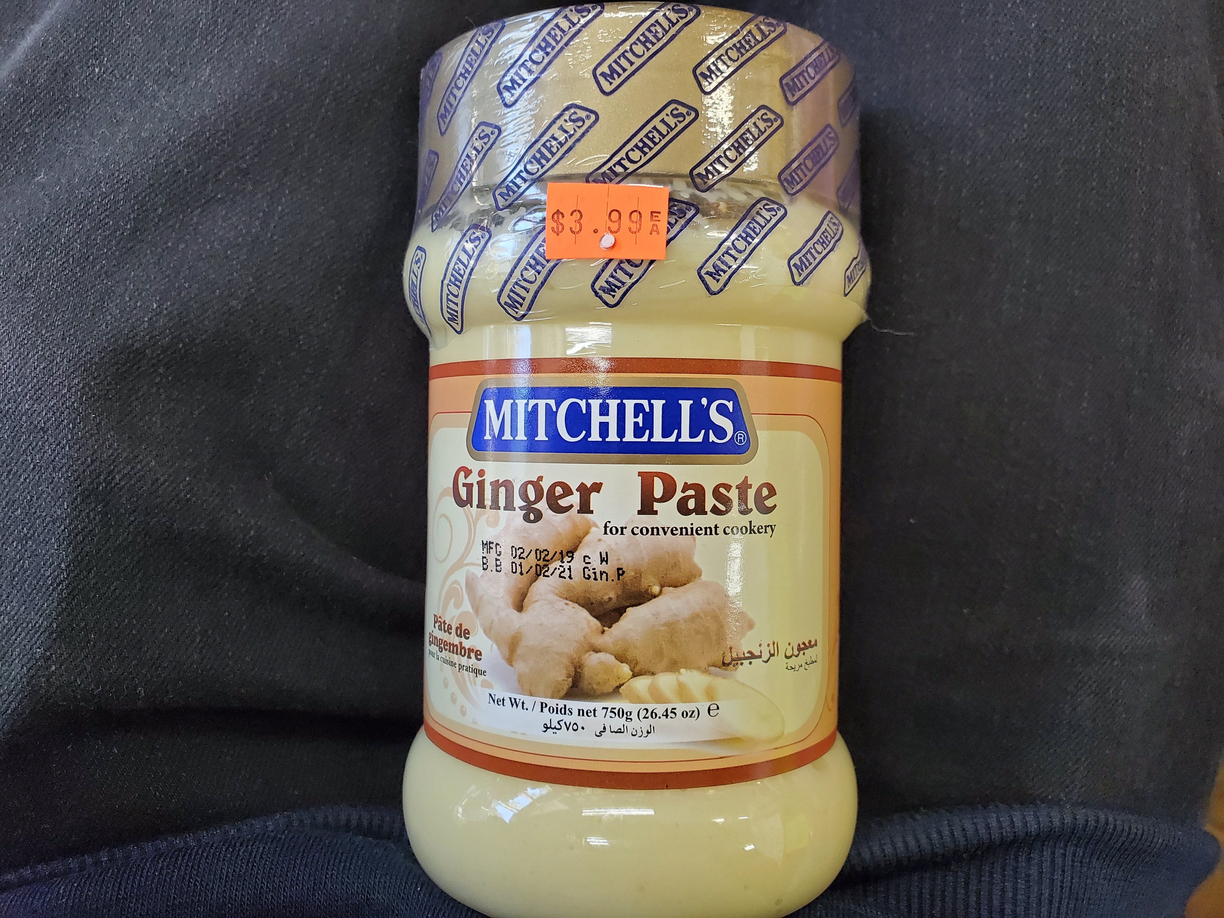 MITCHELL'S Ginger Paste 750g