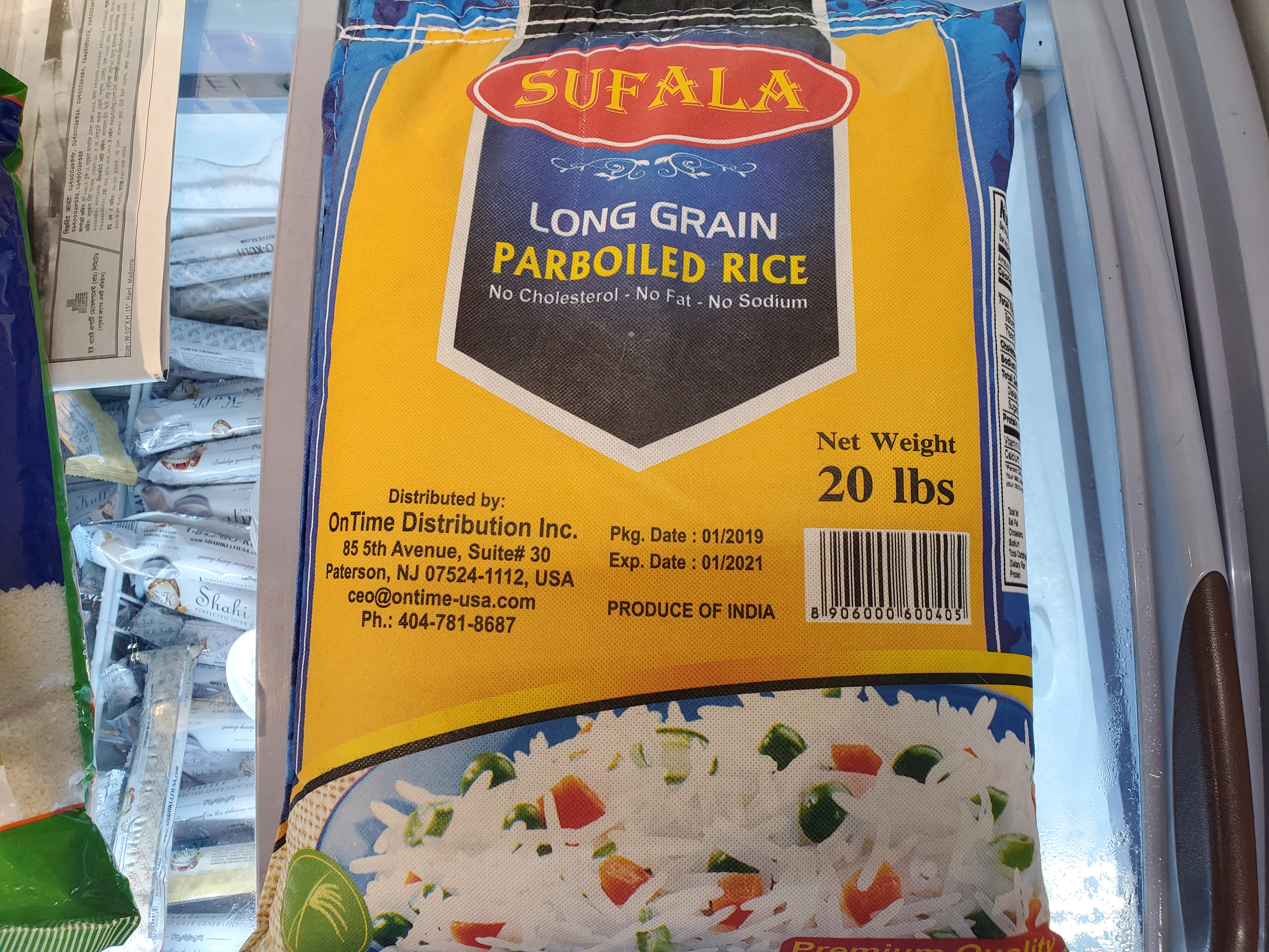 SUFALA LONG GRAIN PARBOILED RICE 20lb