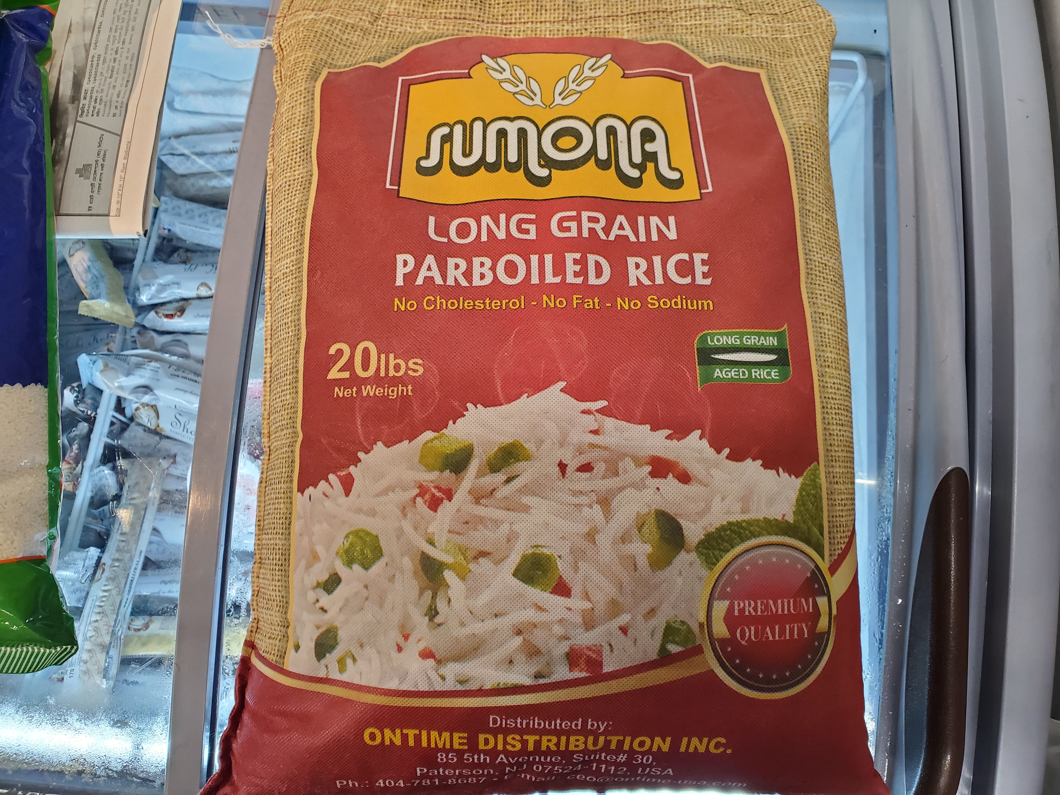 SUMONA LONG GRAIN PARBOILED RICE 20lb