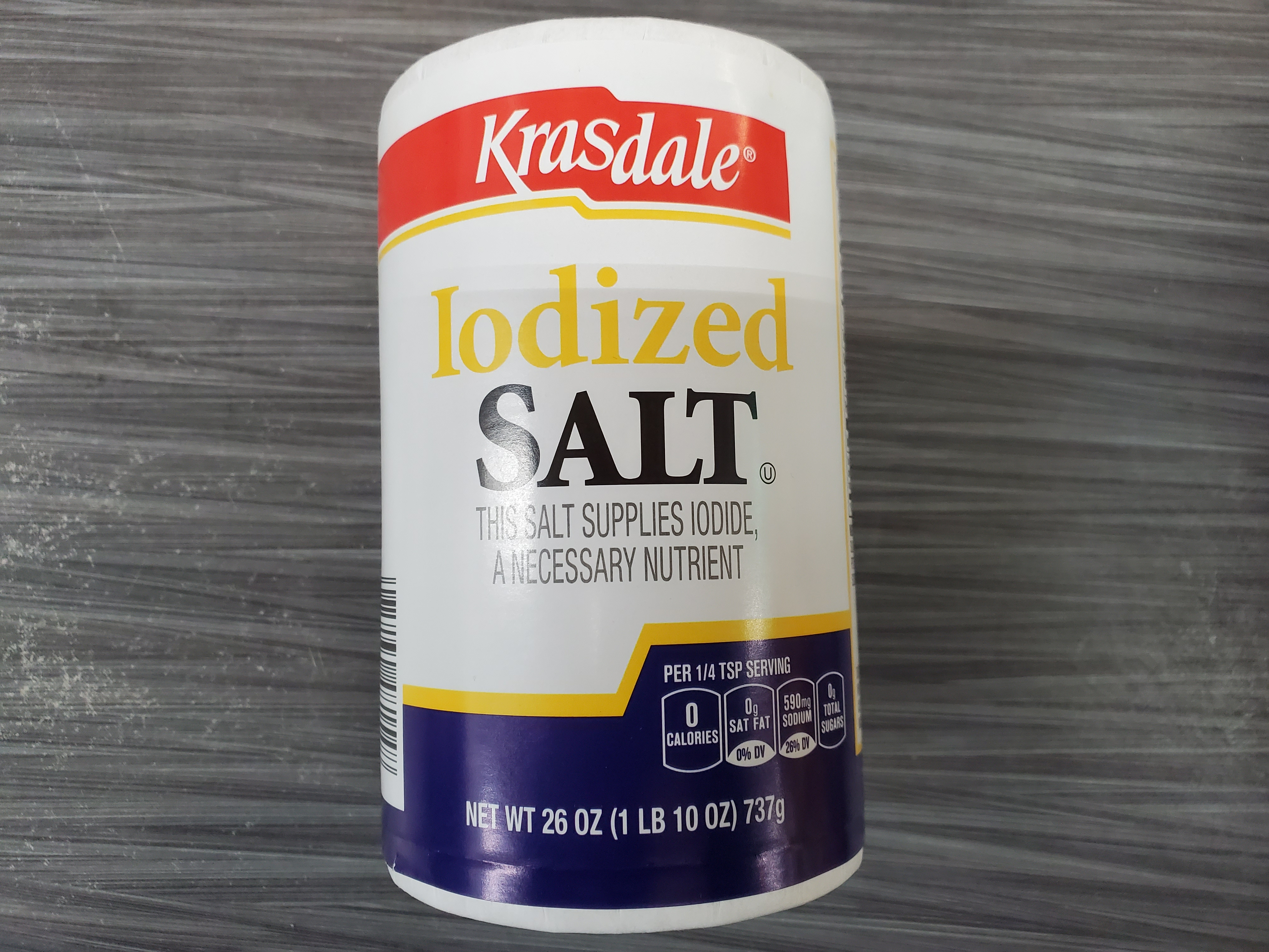 Krasdale Iodized SALT 26 OZ
