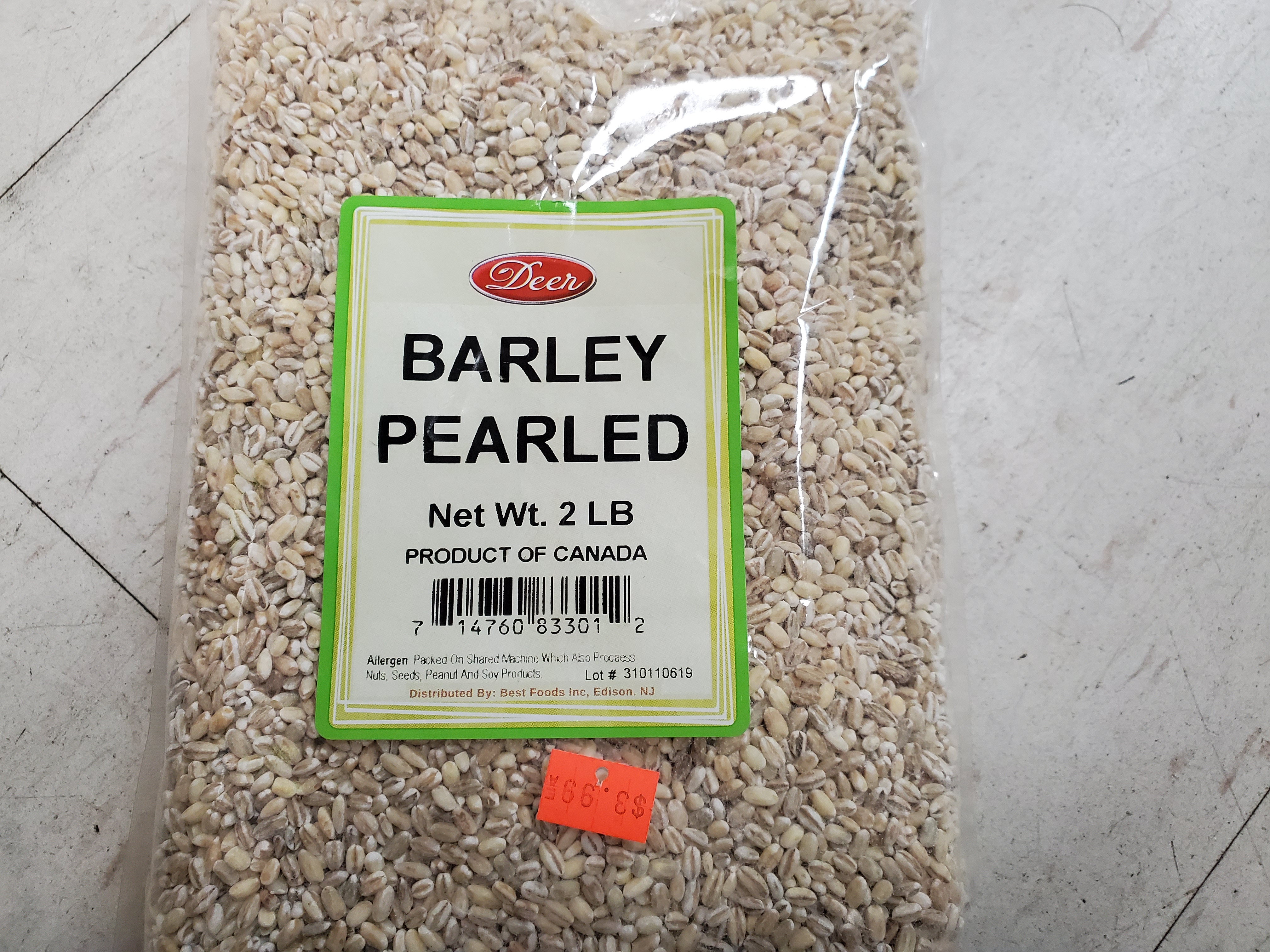 DEER BARLEY CRACKED 2LB