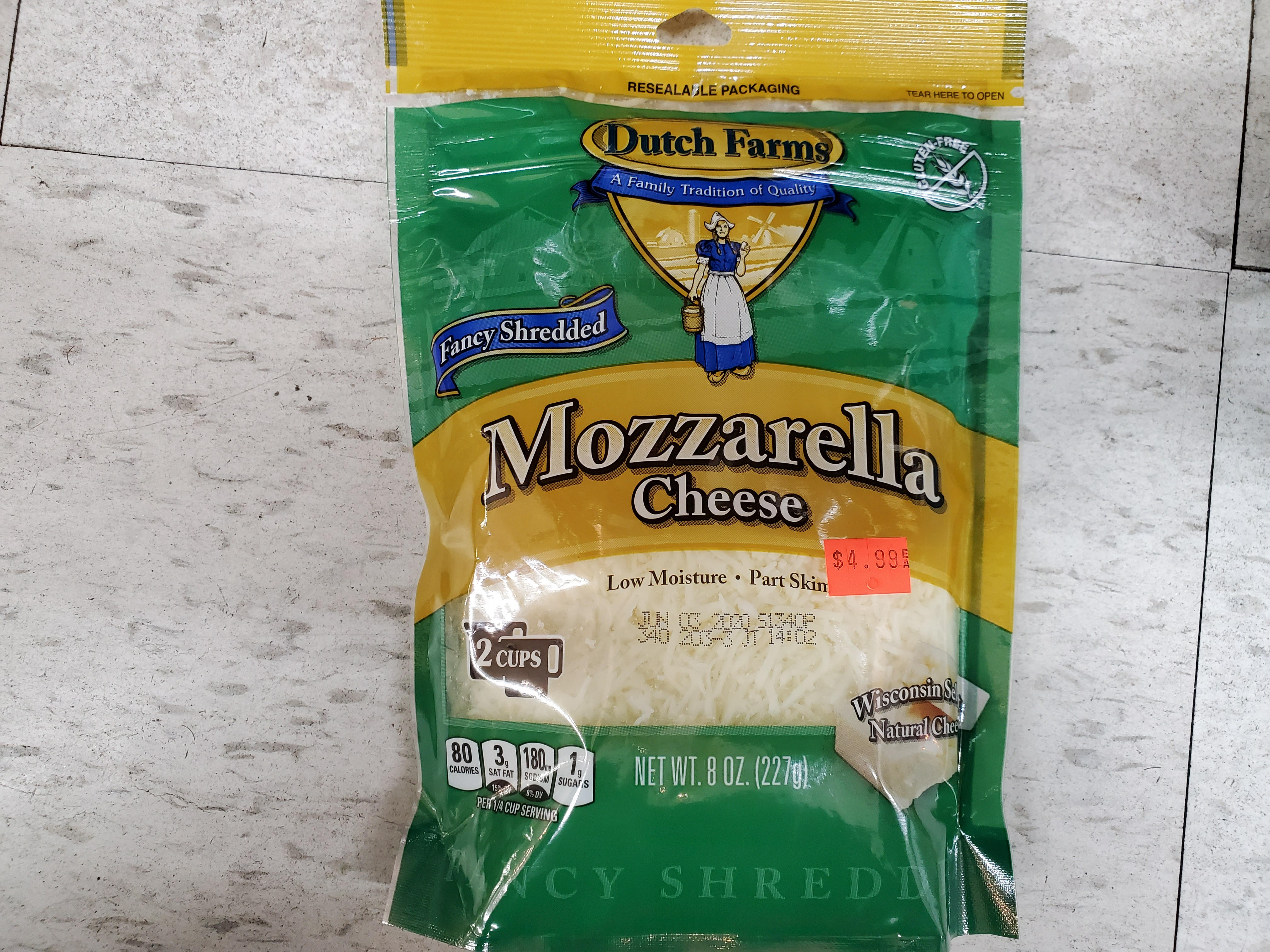 MOZZARELLA CHEESE 8 OZ