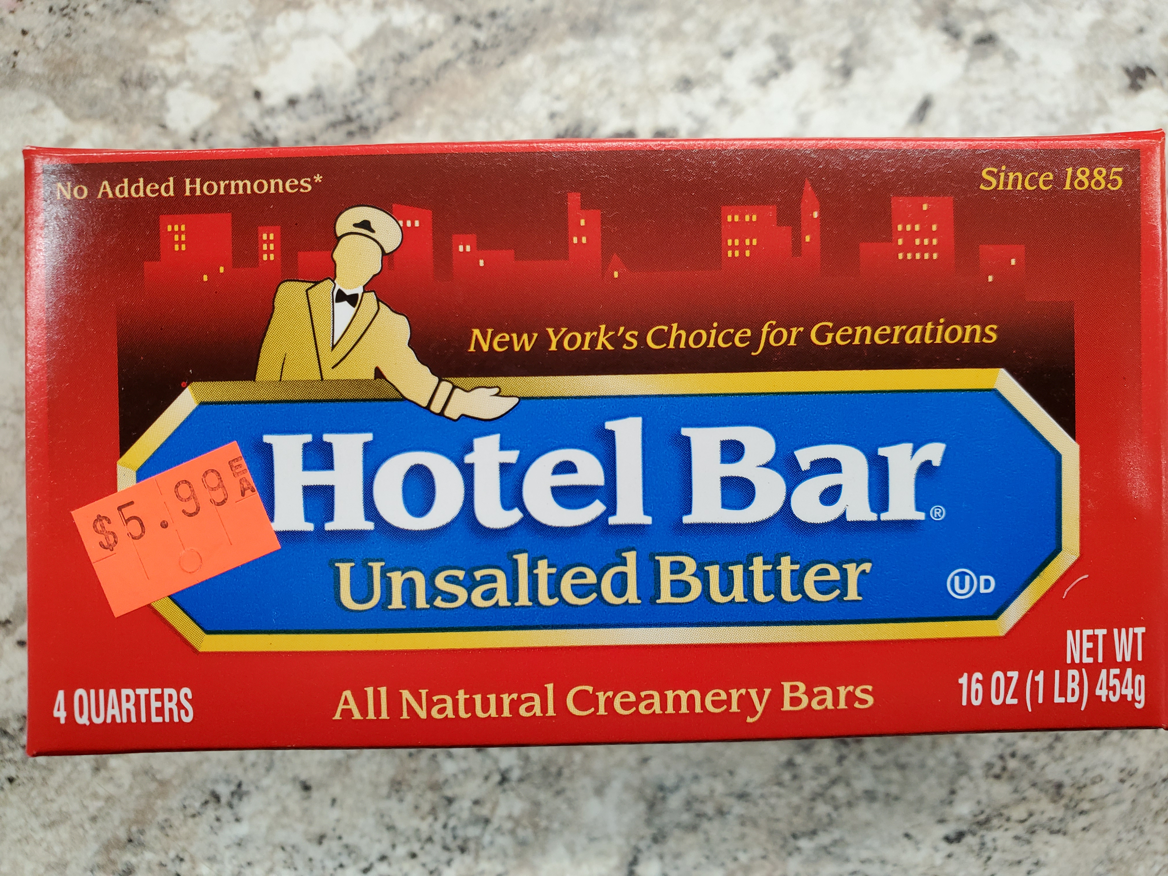 HOTEL BAR UNSALTED BUTTER