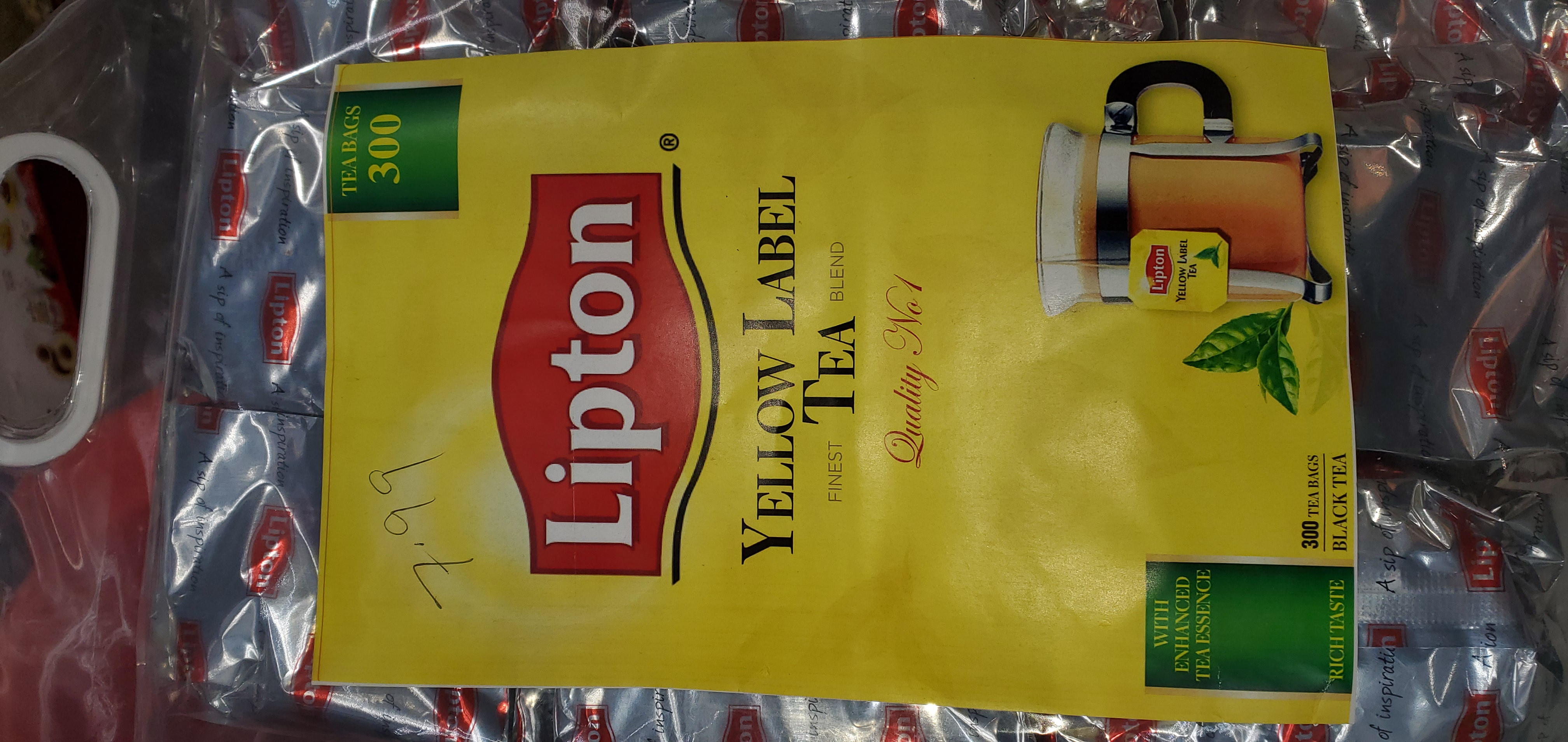 LIPTON YELLOW LABEL TEA (300 Bags)