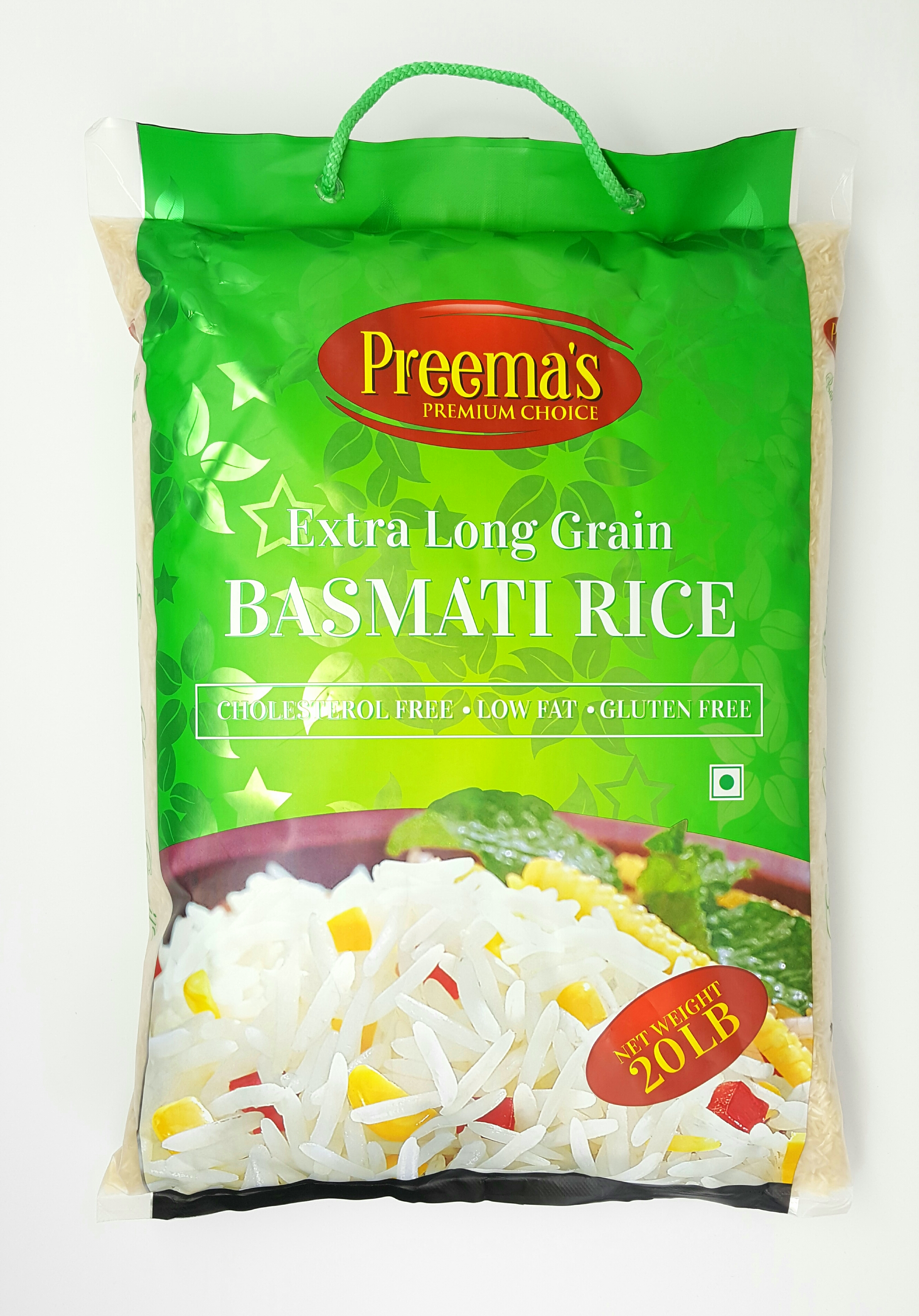 Preema's Premium Choice Extra Long Grain Basmati Rice 20LB
