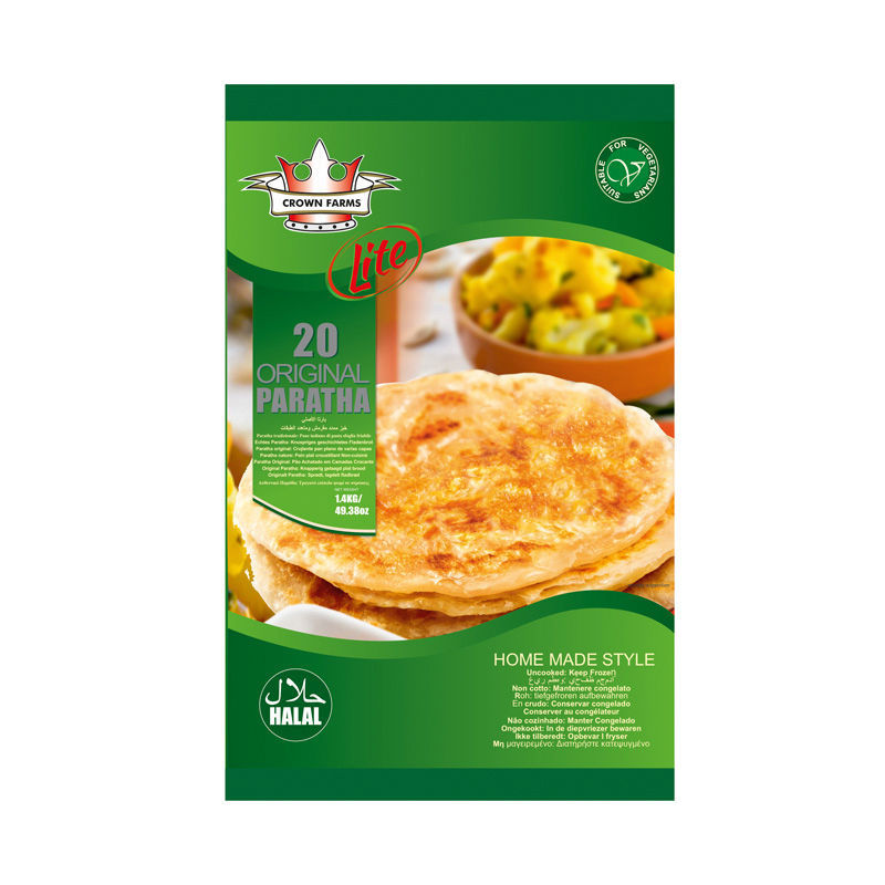 CROWN FARMS LITE PARATHA 30PCS ORIGINAL 2.1KG/74OZ
