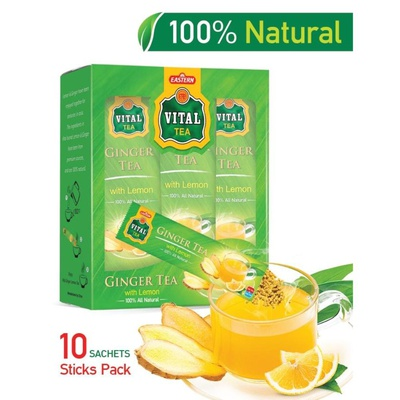 VITAL GINGER TEA WITH LEMON (10 SACHETS)
