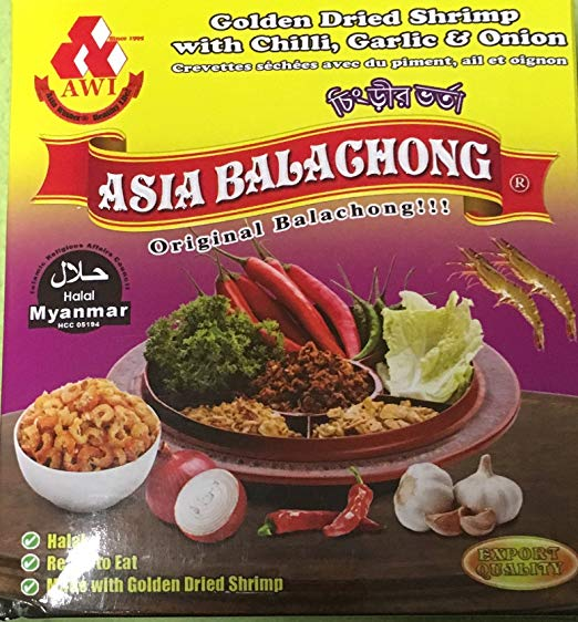ASIA BALACHONG GOLDEN DRIED SHRIMP WITH CHILLI GARLIC & ONION 10.58OZ
