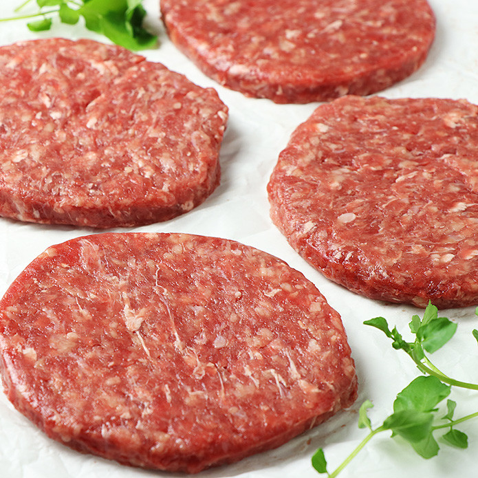 RAW Beef Burger Patty (Unsalted)