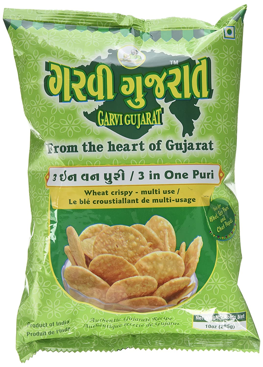 GARVI GUJARAT 3 IN ONE PURI (10 oz)
