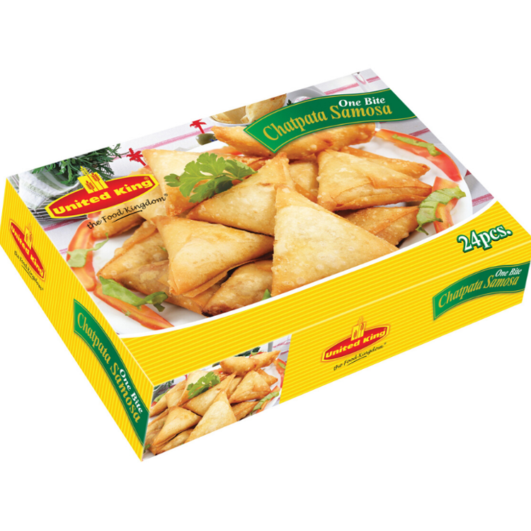 UNITED KING CHATPATA SAMOSA BITE SIZE 24 pcs