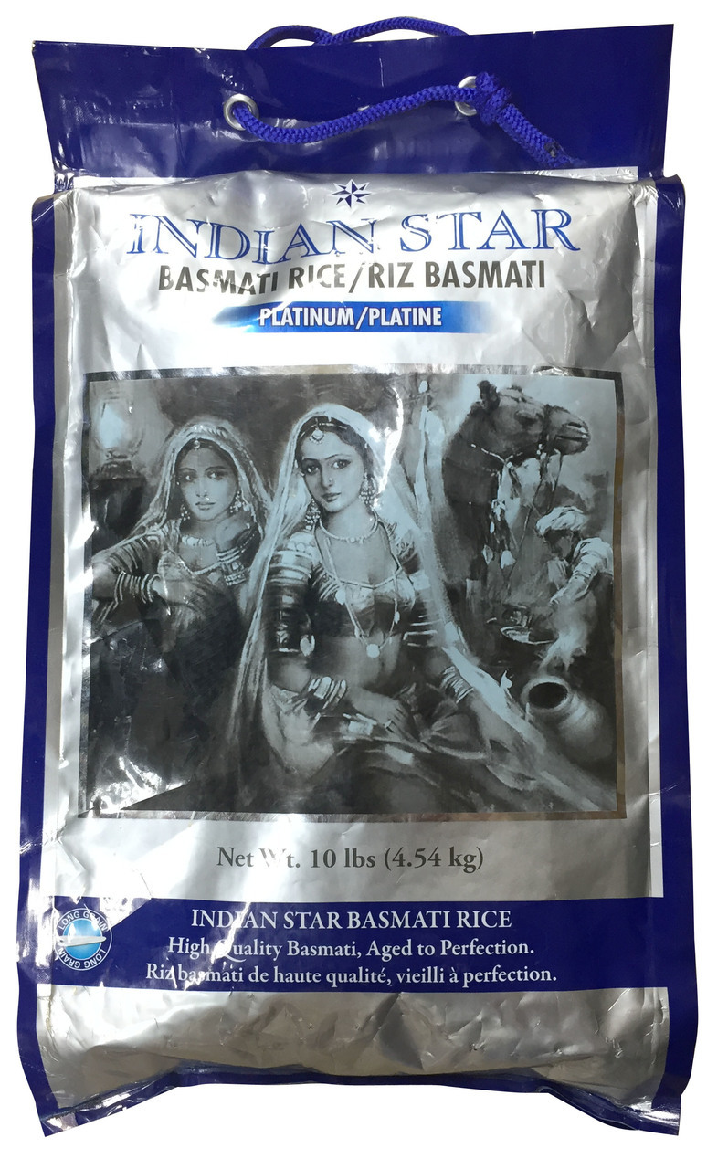 Indian Star Basmati Rice Platinum 10 LB