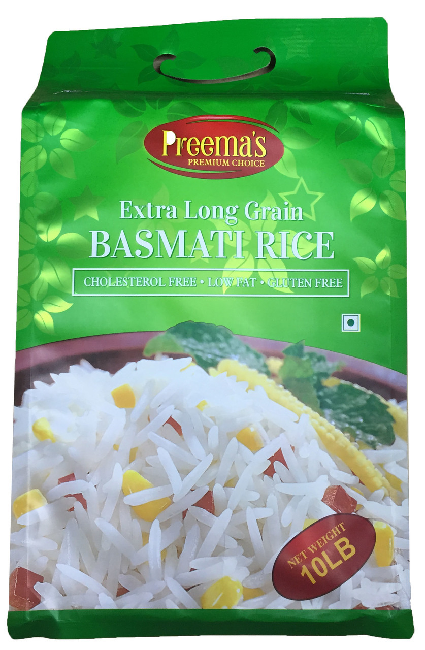 Preema's Premium Choice Extra Long Grain Basmati Rice 10LB