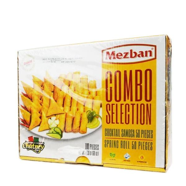 MEZBAN COMBO SELECTION  50 pcs SAMOSA & 50 pcs SPRING ROLL (1860 gm)