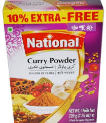 NATIONAL   CURRY  POWDER 220G