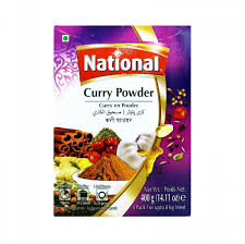 NATIONAL   CURRY  POWDER 400G