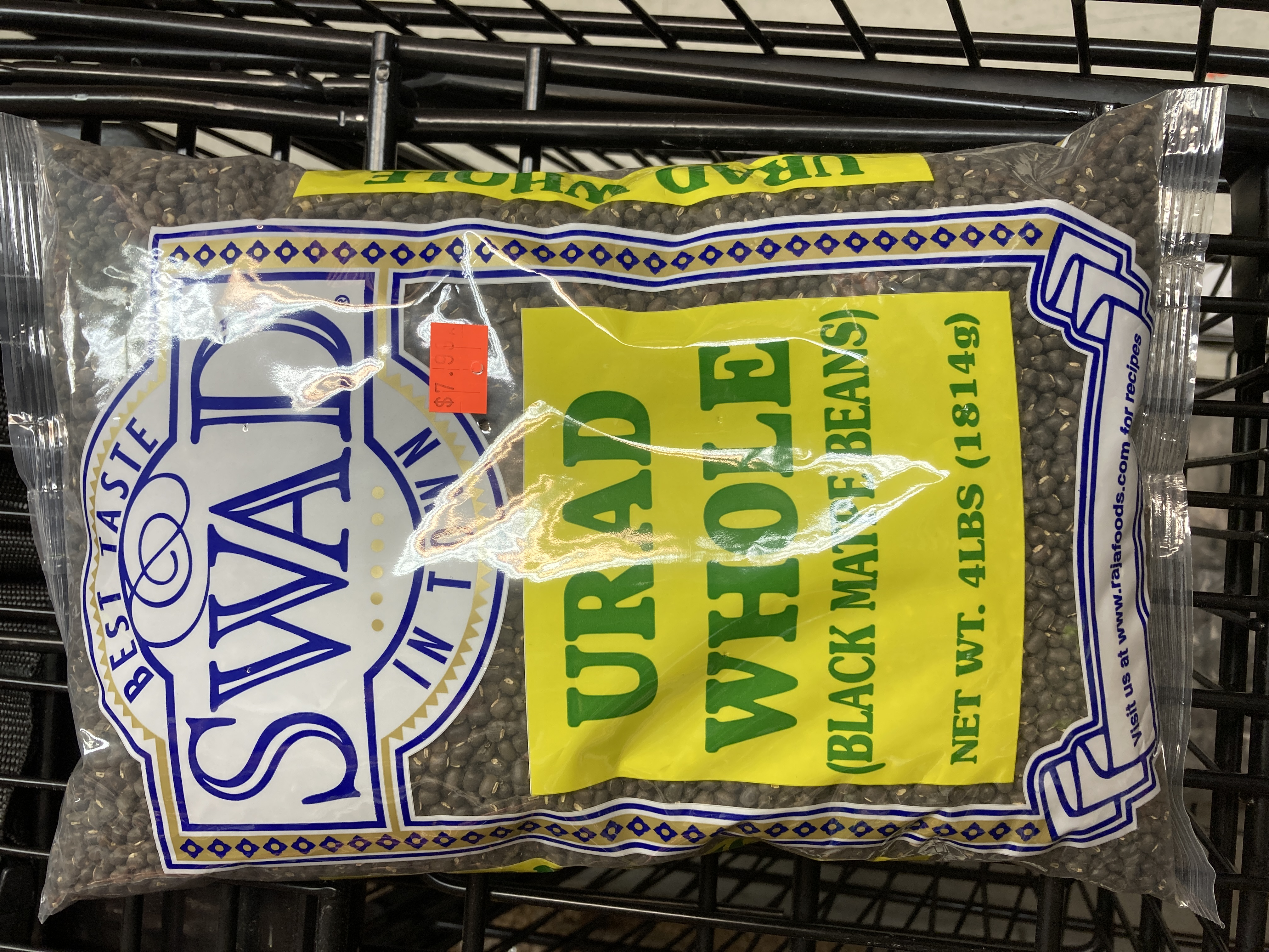 SWAD URAD WHOLE (BLACK MATPE BEANS) 4LBS