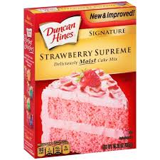 Duncan Hines Strawberry Cake Mix 15.25 oz
