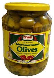 ziyad pickled whole green olives