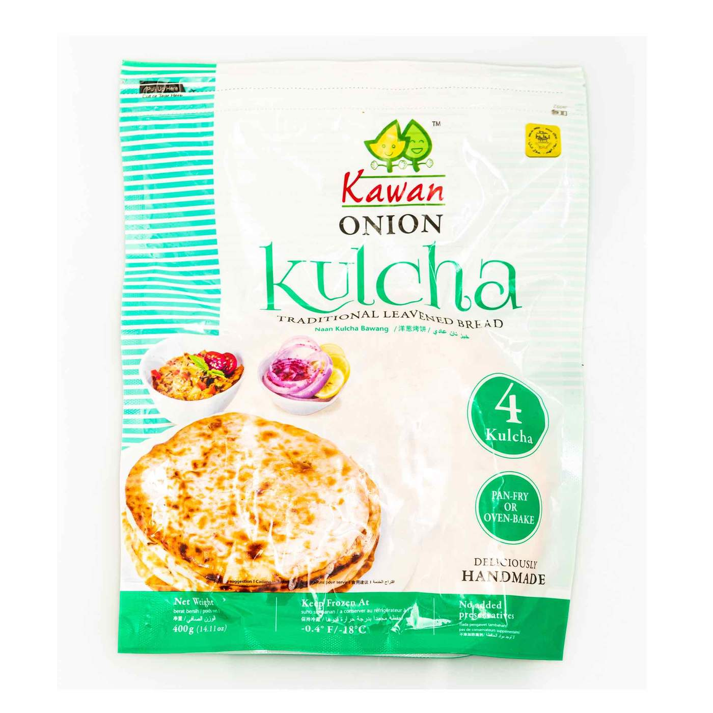 KAWAN ONION KULCHA 4 pcs