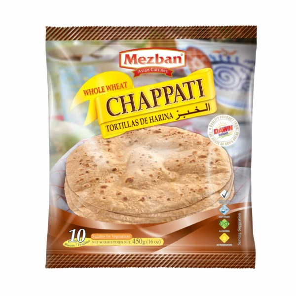 MEZBAN WHOLE WHEAT CHAPPATI 10 pcs